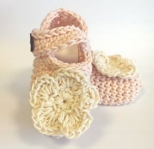 Hand Crocheted Daisy Baby Shoes - shoes & footwear