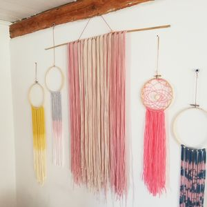 Wall Hanging In Soft Blush Cotton