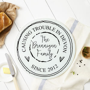 Personalised Family Chopping Board - housewarming gifts