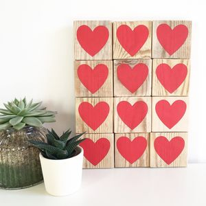 A Dozen Red Hearts Mosaic - valentine's gifts for her