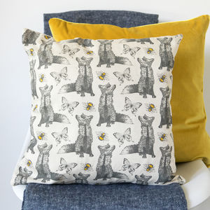 Fox And Bees Cushion - cushions