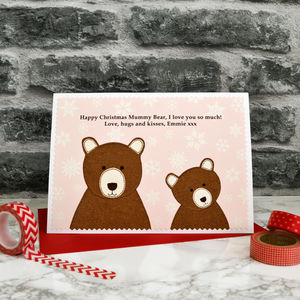 'Baby Bear' Personalised Christmas Card From Children