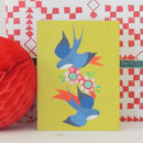 Swallows Mini Greetings Card
