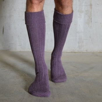 Unisex Long Alpaca Boot Socks