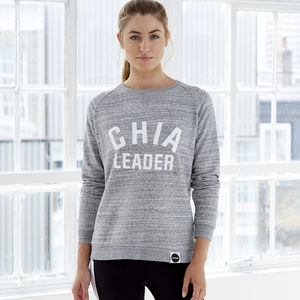 Chia Leader Organic Cotton Blend Sweatshirt - gifts for her