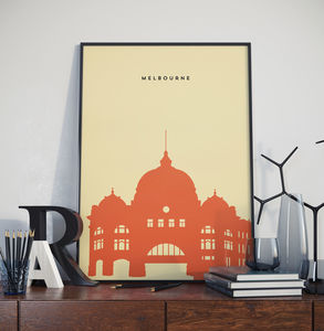 Melbourne Flinders St Station Landmark Print - posters & prints