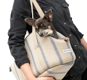 Navy Nordic Stripe Dog Carrier - view all new