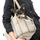 Navy Nordic Stripe Dog Carrier