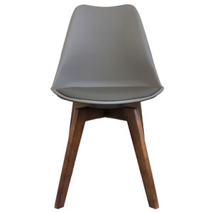 Cool Grey Copenhagen Chair With Square Walnut Legs - dining chairs