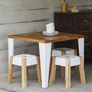 Reclaimed French Oak Cafe Table - kitchen