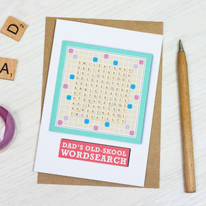 Personalised Dad Wordsearch Card