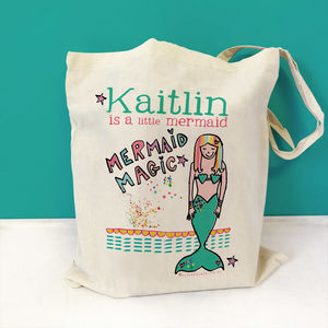 Personalised Mermaid Swim Bag