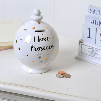 Prosecco Novelty Money Banks