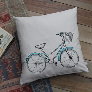 Bicycle Printed Cushion Cover