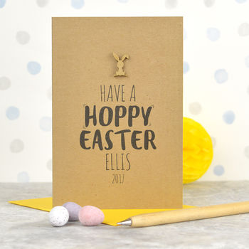 Personalised 'Hoppy' Easter Card