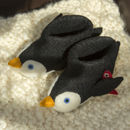 Pete The Penguin Children's Felt Slippers