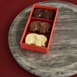 Sea Salt Caramel Chocolate Elephants Box Of Three - novelty chocolates