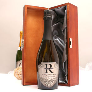 Personalised Prosecco With Pewter Monogram Label - food & drink