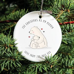 'First Christmas As My Mummy' Decoration - tree decorations