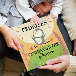 Personalised 'Promises To You' Book For Godchild - books