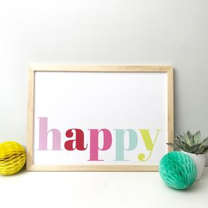 Colourful Happy Nursery And Playroom Print