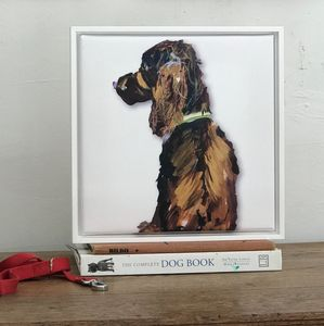 Brown Cocker Spaniel, Framed Canvas Print