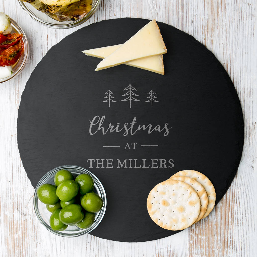 Christmas Cheese Board Ideas.Personalised Christmas Cheese Board For Families