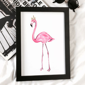 Pink Flamingo Print - animals & wildlife