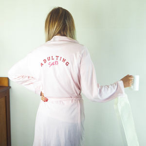'Adulting Sucks' Dressing Gown - bathrobes & dressing gowns