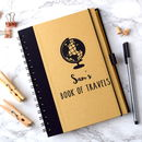 Personalised Book Of Travel Notebook