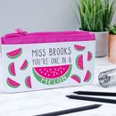 Personalised One In A Melon Pencil Case