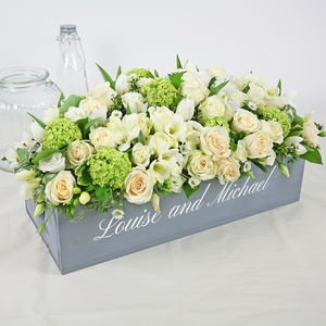 Personalised Wedding Table Centrepiece Crate - rustic wedding
