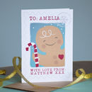 Personalised Christmas Post Gingerbread Card