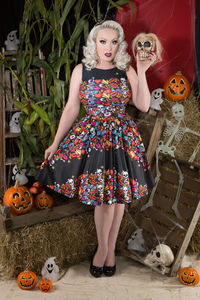 Spooky Border Tea Dress - fancy dress