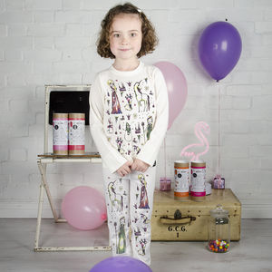 Personalised Ice Queen Colour In Pyjamas With Pens - clothing