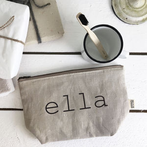 Artisan Linen Washbag Or Make Up Bag - make-up bags