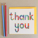 10 Thank You Wordy Cards