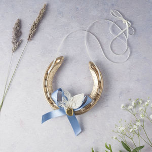 Gold Lauren Vintage Locket Lucky Wedding Horseshoe