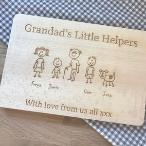 Our Family Personalised Engraved Wooden Board