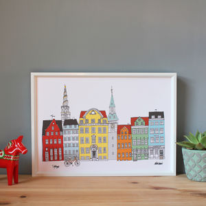 Copenhagen Buildings Cityscape Print Colour