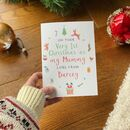 Personalised Baby 1st Christmas As Mummy Card