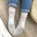 Personalised Embroidered Birthday Year Snug Socks
