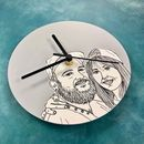 Personalised Portrait Wall Clock