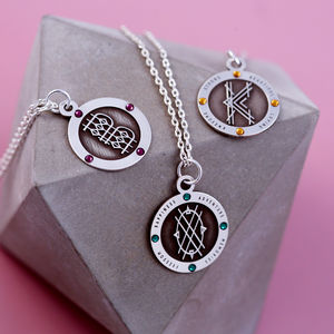 Decorative Sterling Silver Alphabet Necklace