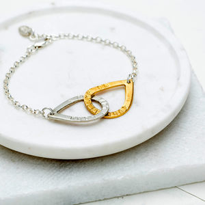 Personalised Teardrop Links Bracelet - bracelets & bangles