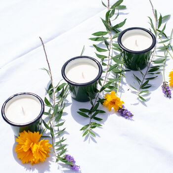 Wedding Votive Candle Set Of Six