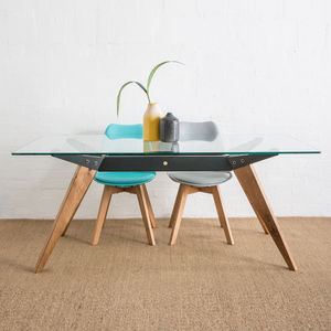 FfrÂm Glass Dining Table - kitchen