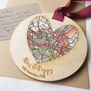 Personalised Wedding Map Keepsake
