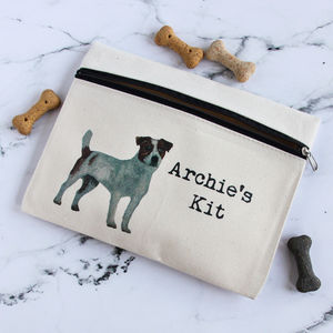 Personalised Zipped Pouch For Dog Essentials