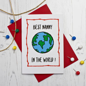 Best Nanny In The World - mother's day cards & wrap